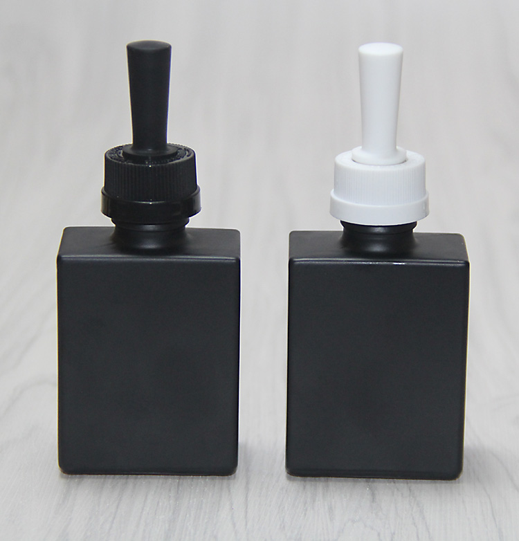 30ml square black glass dropper bottle e-liquid bottle whith a dropper cap