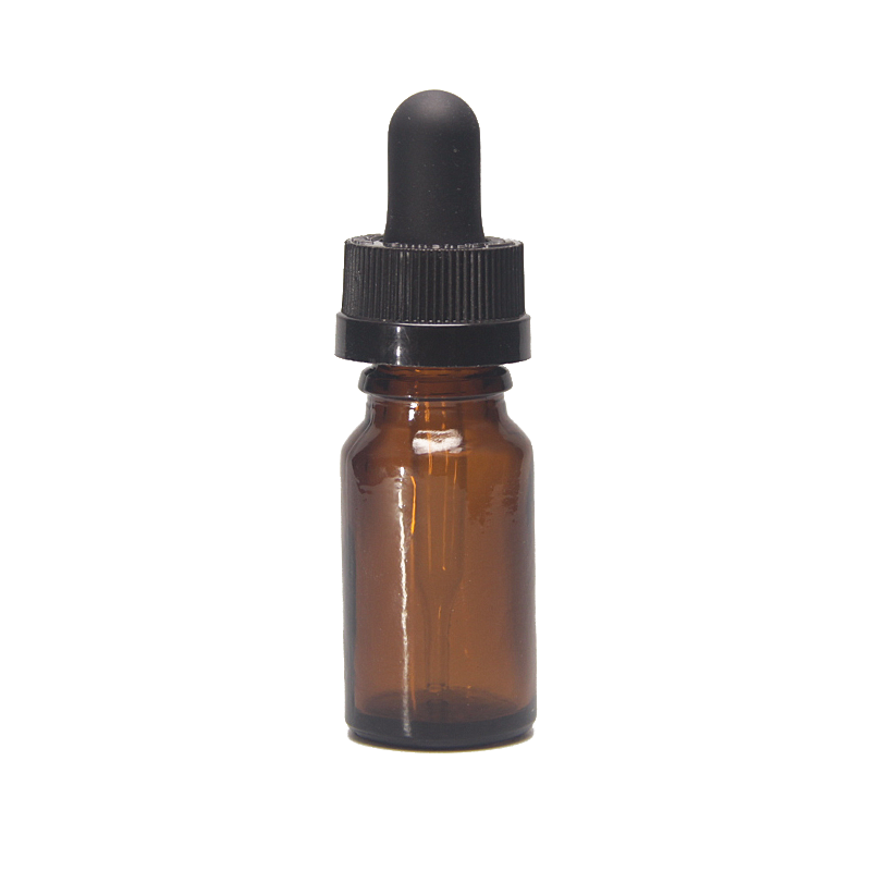 10ML Electronic cigarette bottles amber glass dropper bottle