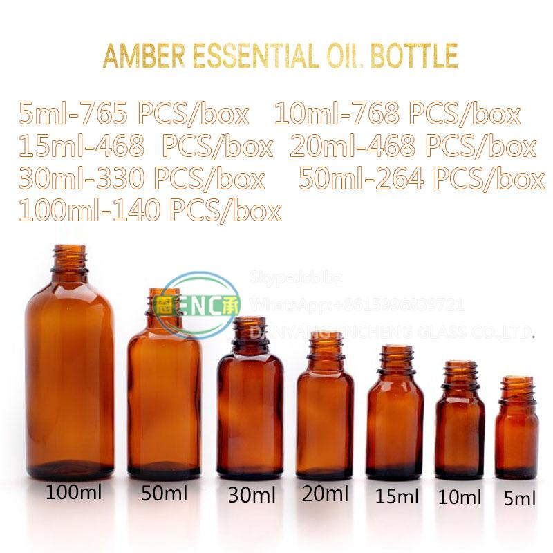 amber essential oil bottle